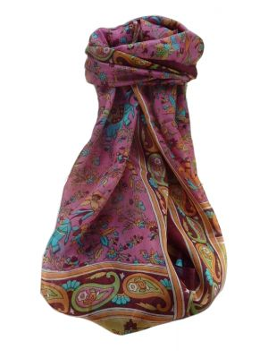Mulberry Silk Traditional Long Scarf  Zinta Maroon by Pashmina & Silk