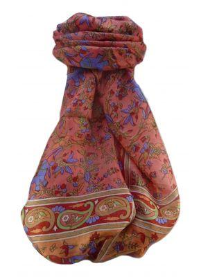 Mulberry Silk Traditional Long Scarf  Zinta Scarlet by Pashmina & Silk
