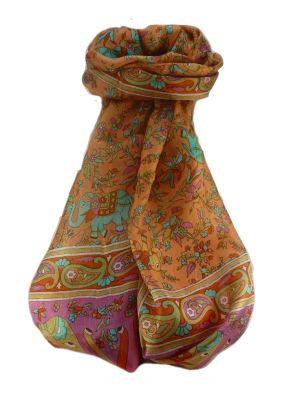 Mulberry Silk Traditional Long Scarf  Zinta Marigold by Pashmina & Silk