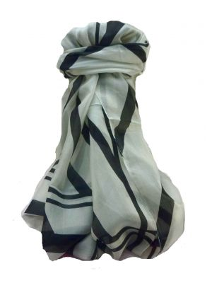 Mulberry Silk Contemporary Long Scarf Geometric G145 by Pashmina & Silk