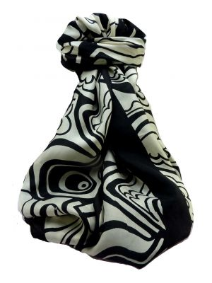 Mulberry Silk Contemporary Long Scarf Geometric G146 by Pashmina & Silk