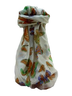 Mulberry Silk Contemporary Long Scarf Floral F243 by Pashmina & Silk