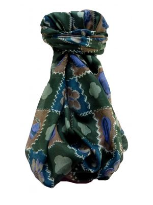 Mulberry Silk Contemporary Long Scarf Floral F247 by Pashmina & Silk