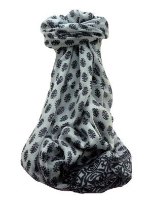 Mulberry Silk Contemporary Long Scarf Floral F248 by Pashmina & Silk