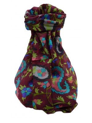 Mulberry Silk Contemporary Long Scarf Floral F250 by Pashmina & Silk