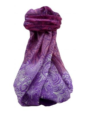 Mulberry Silk Contemporary Long Scarf Floral F251 by Pashmina & Silk