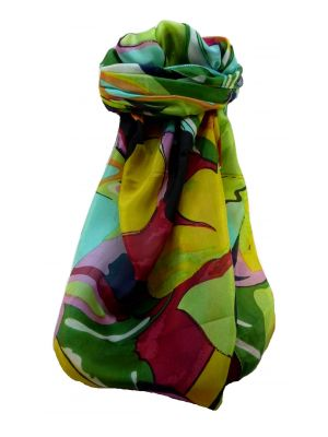 Mulberry Silk Contemporary Long Scarf Abstract A323 by Pashmina & Silk