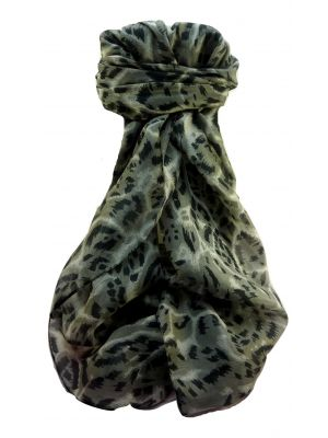 Mulberry Silk Contemporary Long Scarf Abstract A327 by Pashmina & Silk