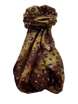 Mulberry Silk Contemporary Long Scarf Abstract A328 by Pashmina & Silk