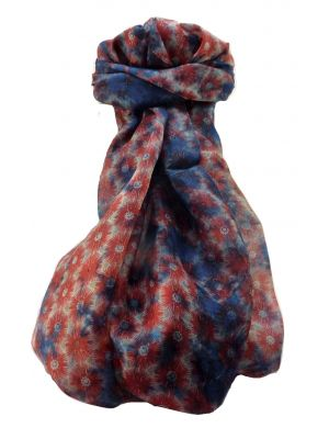 Mulberry Silk Contemporary Long Scarf Abstract A332 by Pashmina & Silk