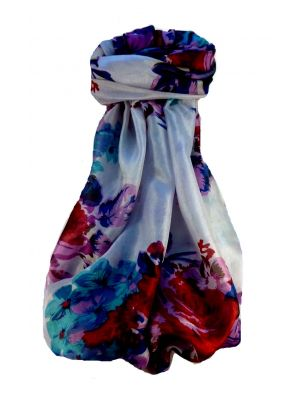 Mulberry Silk Contemporary Long Scarf Taj Multi Coloured by Pashmina & Silk