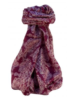 Mulberry Silk Contemporary Long Scarf Thanu Wine by Pashmina & Silk