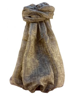 Mulberry Silk Contemporary Long Scarf Udipi Beige by Pashmina & Silk