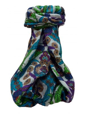 Mulberry Silk Contemporary Long Scarf Umar Multi Coloured by Pashmina & Silk