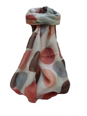 Mulberry Silk Contemporary Square Scarf Varun Brown by Pashmina & Silk