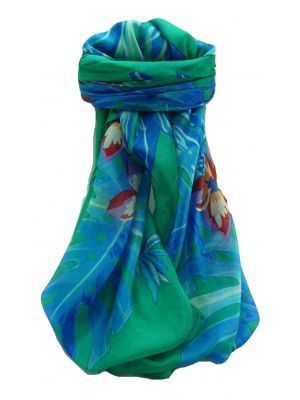 Mulberry Silk Contemporary Square Scarf Floral F254 by Pashmina & Silk