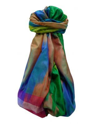 Varanasi Ekal Premium Silk Long Scarf Heritage Range Darsha 7 by Pashmina & Silk