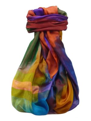 Varanasi Ekal Premium Silk Long Scarf Heritage Range Darsha 8 by Pashmina & Silk