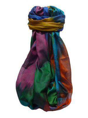 Varanasi Ekal Premium Silk Long Scarf Heritage Range Goel 1 by Pashmina & Silk