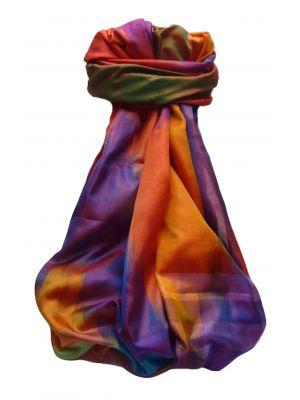 Varanasi Ekal Premium Silk Long Scarf Heritage Range Goel 3 by Pashmina & Silk