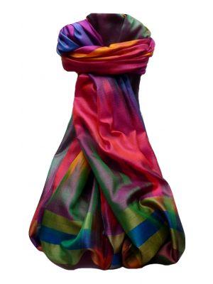 Varanasi Ekal Premium Silk Long Scarf Heritage Range Goel 4 by Pashmina & Silk