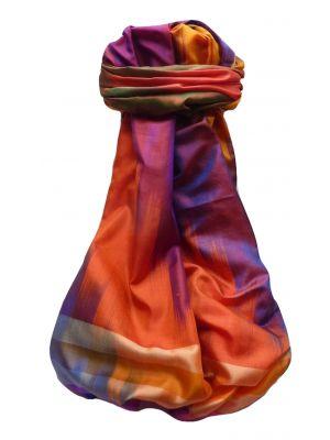 Varanasi Ekal Premium Silk Long Scarf Heritage Range Goel 6 by Pashmina & Silk