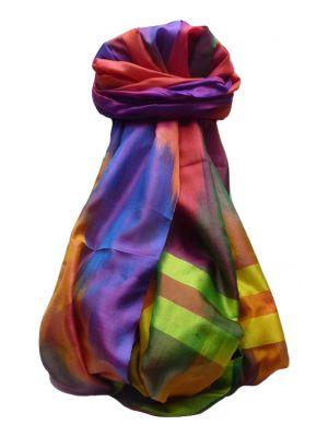 Varanasi Ekal Premium Silk Long Scarf Heritage Range Goel 8 by Pashmina & Silk
