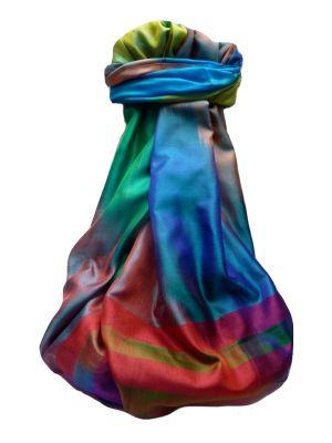 Varanasi Ekal Premium Silk Long Scarf Heritage Range Goel 10 by Pashmina & Silk