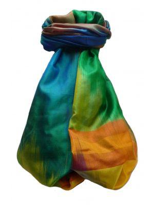 Varanasi Ekal Premium Silk Long Scarf Heritage Range Rai 3 by Pashmina & Silk
