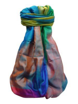 Varanasi Ekal Premium Silk Long Scarf Heritage Range Rai 4 by Pashmina & Silk