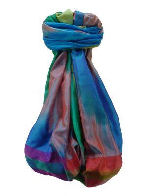 Varanasi Ekal Premium Silk Long Scarf Heritage Range Rai 5 by Pashmina & Silk