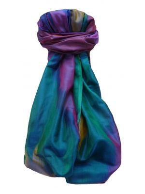 Varanasi Ekal Premium Silk Long Scarf Heritage Range Rai 6 by Pashmina & Silk