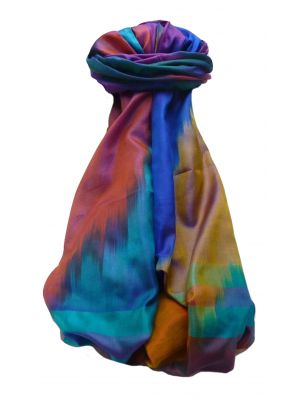 Varanasi Ekal Premium Silk Long Scarf Heritage Range Rai 7 by Pashmina & Silk