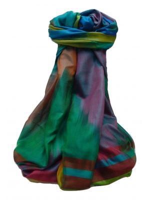 Varanasi Ekal Premium Silk Long Scarf Heritage Range Rai 8 by Pashmina & Silk