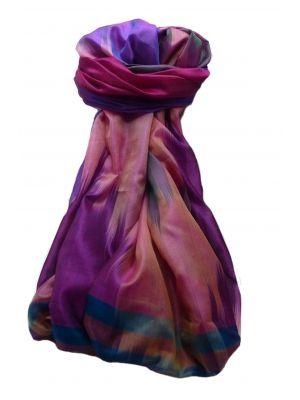 Varanasi Ekal Premium Silk Long Scarf Heritage Range Rai 10 by Pashmina & Silk