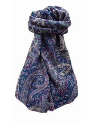 Muffler Scarf 7613 in Fine Pashmina Wool Heritage Range by Pashmina & Silk