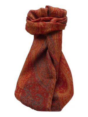 Muffler Scarf 7743 in Fine Pashmina Wool Heritage Range by Pashmina & Silk