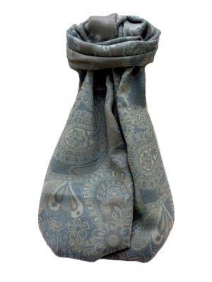 Muffler Scarf 7873 in Fine Pashmina Wool Heritage Range by Pashmina & Silk