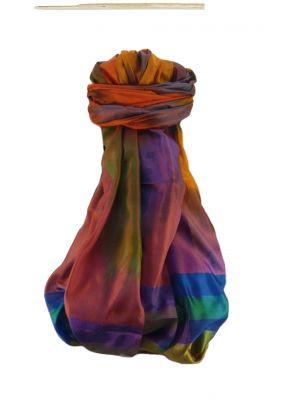 Varanasi Ekal Premium Silk Long Scarf Heritage Range Bandhi 3 by Pashmina & Silk