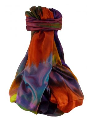Varanasi Ekal Premium Silk Long Scarf Heritage Range Bandhi 6 by Pashmina & Silk