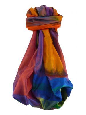 Varanasi Ekal Premium Silk Long Scarf Heritage Range Bandhi 9 by Pashmina & Silk