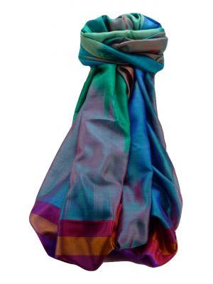 Varanasi Ekal Premium Silk Long Scarf Heritage Range Saraf 9 by Pashmina & Silk