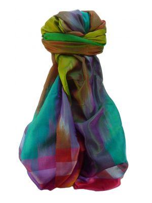 Varanasi Ekal Premium Silk Long Scarf Heritage Range Singh 2 by Pashmina & Silk