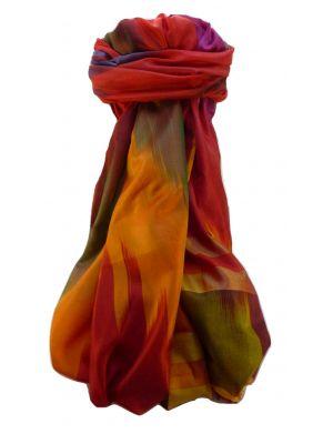 Varanasi Ekal Premium Silk Long Scarf Heritage Range Singh 4 by Pashmina & Silk