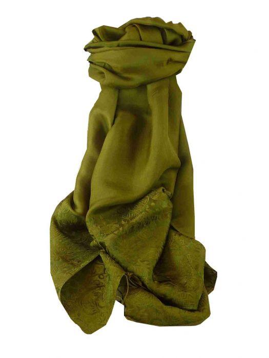 Vietnamese Silk Scarf Reversible Hoi-An Khau-Vai Olive by Pashmina /& Silk